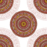 Hand drawn seamless background in indian style Stock Images