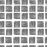 Hand drawn seamless black stripes background vector illustration