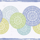 Hand drawn seamless border  in indian style Royalty Free Stock Photography