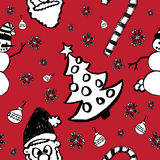 Hand Drawn Seamless Christmas Pattern Royalty Free Stock Photo