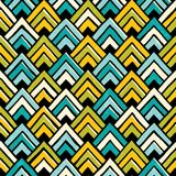 Hand drawn seamless colorful pattern. Royalty Free Stock Photo
