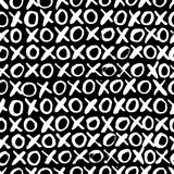 Hand drawn seamless cross shapes pattern. Christmas Hoho. Royalty Free Stock Photo