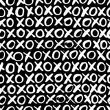 Hand drawn seamless cross shapes pattern. Christmas Hoho. Royalty Free Stock Photo