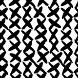 Hand drawn seamless cross shapes pattern. Dry brush and rough Royalty Free Stock Photos
