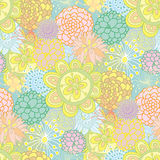 Hand drawn seamless floral pattern royalty free illustration