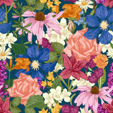 Hand drawn seamless floral pattern Royalty Free Stock Images