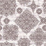 Hand drawn seamless floral pattern Stock Photos