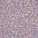 Hand-drawn  seamless floral pattern Stock Image