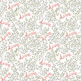 Hand drawn seamless love pattern Stock Photo