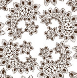Hand Drawn Seamless luxury paisley Royalty Free Stock Photo