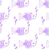 Hand drawn seamless pattern Stock Photo
