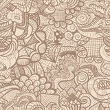 Hand-drawn seamless pattern Stock Photography