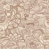 Hand-drawn seamless pattern Stock Photography