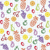 Hand drawn seamless pattern Stock Image