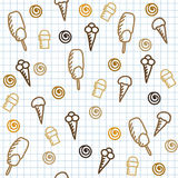 Hand drawn seamless pattern Royalty Free Stock Image