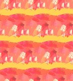 Hand drawn seamless pattern. Abstract background with brush strokes. Warm colors hand drawn texture. stock illustration