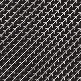 Hand drawn seamless pattern. Abstract geometric shapes background in black and white. Vector ethnic grungy texture. royalty free stock images