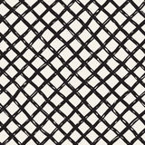 Hand drawn seamless pattern. Allover pattern with ink doodle grunge grid. Graphic background with freehand line tartan. Stock Photos