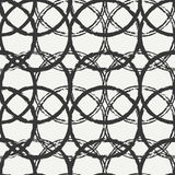 Hand drawn seamless pattern with black grunge rings, circle.  Stock Photography