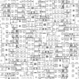 Hand drawn seamless pattern of Cairo's houses Royalty Free Stock Photo