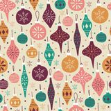 Hand Drawn Seamless Pattern with Christmas Balls. Royalty Free Stock Photography
