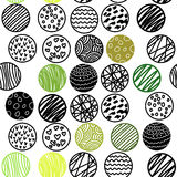 Hand Drawn seamless pattern with circles Royalty Free Stock Image