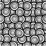 Hand drawn seamless pattern with circles Stock Images