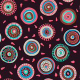 Hand drawn seamless pattern with colorful circles Vector Illustration