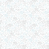 Hand drawn seamless pattern with cute donuts Royalty Free Stock Image