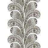 Hand drawn seamless pattern in doodle art style Black and white decoration for cards,wedding invitations, tickets, congratulations Stock Photos