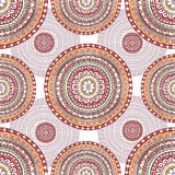 Hand drawn seamless pattern in ethnic style Stock Images
