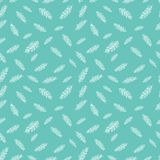 Hand drawn seamless pattern with feather. Perfect for background, poster, postcard, packing vector illustration