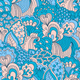 Hand drawn seamless pattern with floral elements. Stock Photography
