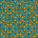 Hand drawn seamless pattern with floral elements. Colorful ethnic background. Stock Image