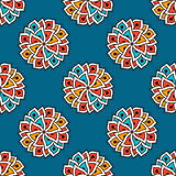 Hand drawn seamless pattern with floral elements. Stock Photos