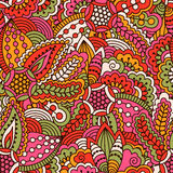 Hand drawn seamless pattern with floral elements. Stock Images