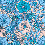 Hand drawn seamless pattern with floral elements. Good for textile design Stock Images