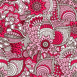 Hand drawn seamless pattern with floral elements. Good for textile design Stock Photos