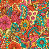 Hand drawn seamless pattern with floral elements. Good for textile design Royalty Free Stock Photography