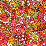 Hand drawn seamless pattern with floral elements. Good for textile design Royalty Free Stock Image