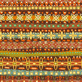 Hand drawn   seamless pattern in  folkloric style Royalty Free Stock Photo