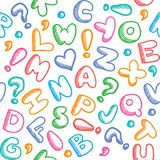 Alphabet pattern Stock Image