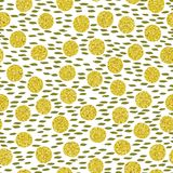 Hand drawn seamless pattern. Seamless pattern. Golden different spots on background brush strokes. Hand drawn vector illustration royalty free illustration