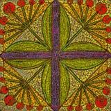 Hand-drawn seamless pattern. Imitation granite tiles royalty free illustration