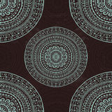 Hand drawn seamless pattern  in indian style Stock Photography
