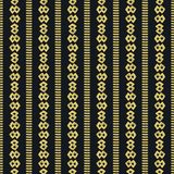 Mud Cloth Black Yellow Seamless Pattern. Hand Drawn Seamless Pattern inspired by African mud cloth textile Stock Photos