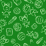 Hand drawn seamless pattern with kids Royalty Free Stock Photography