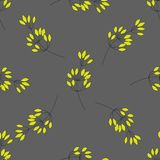 Hand drawn seamless pattern with leaves and branches. Can be used for fabrics, wallpapers, scrap-booking, ornamental royalty free illustration
