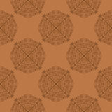 Hand drawn seamless pattern with mandalas eps10 Royalty Free Stock Photography