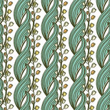 Hand drawn seamless pattern with may-lily flowers. Royalty Free Stock Photo